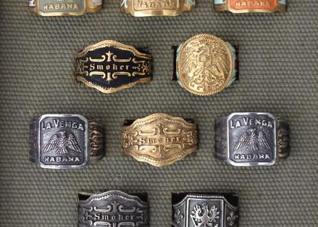 """""""Cigar label"""" Silver ring / Eileen"""