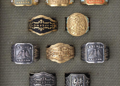 """Cigar label"" Silver ring / Sol"