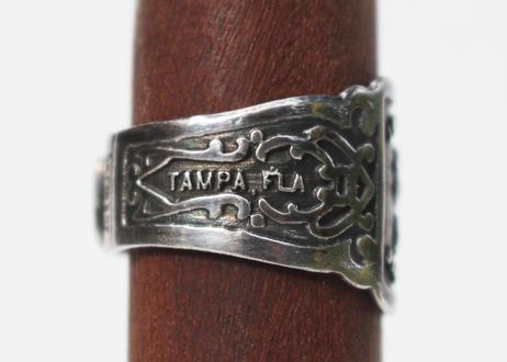 """""""Cigar label"""" Silver ring / La Amita"""