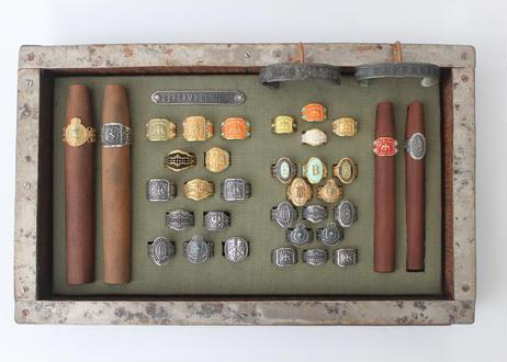 """""""Cigar ring"""" Silver ring / Raven"""