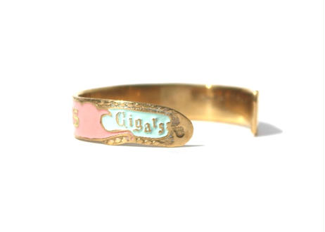 """Cigar label"" Hand paint gold bangle / PEERLESS"