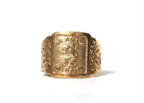 """""""Cigar label"""" Gold ring / La Amita"""