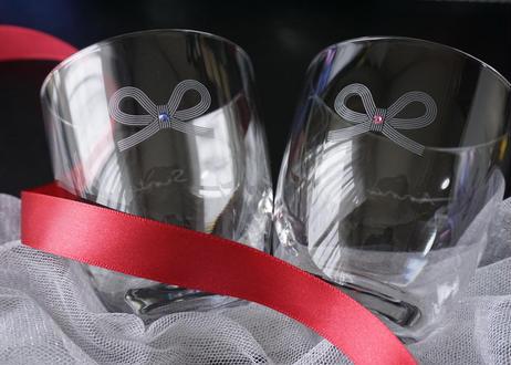 リボンの名入れグラス【価格はグラス1つ】