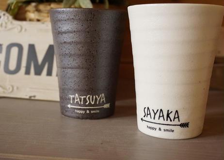 ネイティブ柄の名入れフリーカップ