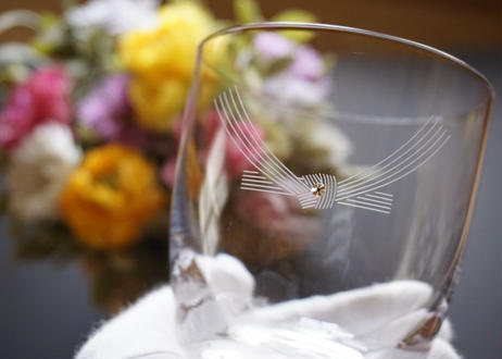 結びきりの名入れグラス