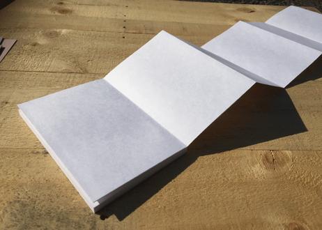 【ベテランセット・見開きサイズしろ/きなり】自分でつくる御朱印帳 本文、ボール紙、上質紙、表箋のみ