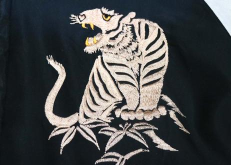"TAILOR TOYO テーラー東洋スカジャン ACETATE SOUVENIR JACKET AGING MODEL""WHITE TIGER & JAPAN MAP"""