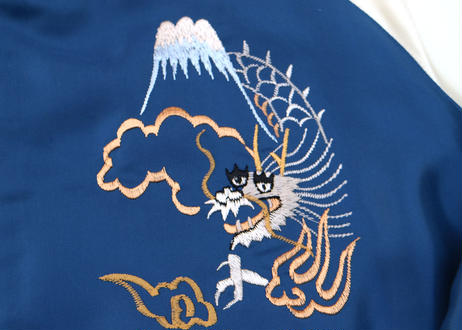 "TAILOR TOYO テーラー東洋 ACETATE SOUVENIR JACKET ""EAGLE""×""JAPAN MAP""横須賀MIKASA"