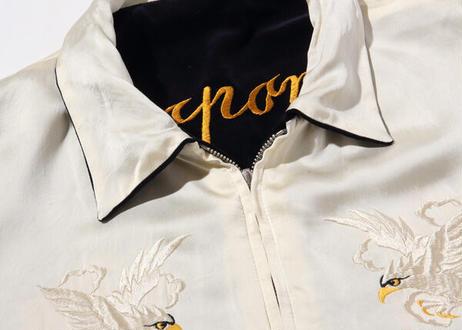 """港商スペシャル 限定モデル""""KOSHO & CO."""" SPECIAL EDITION SOUVENIR JACKET """"GOLD TIGER"""" × """"WHITE EAGLE"""""""
