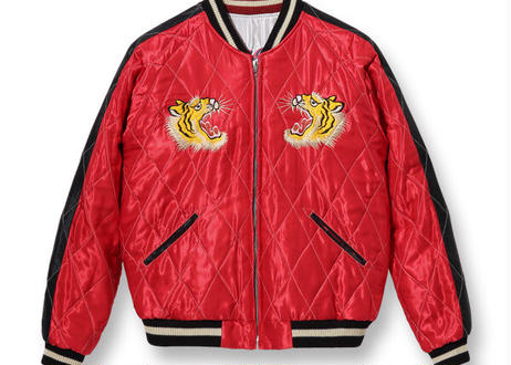 """TAILOR TOYO テーラー東洋 ACETATE QUILTED SOUVENIR JACKET """"EAGLE & DRAGON"""" × """"ROARING TIGER"""""""