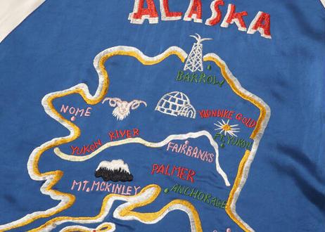 """港商スペシャル 限定モデル""""KOSHO & CO."""" SPECIAL EDITION SOUVENIR JACKET """"ALASKA MAP"""" × """"ALASKAN EAGLE"""""""