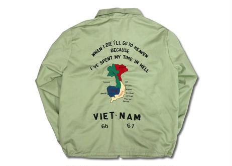 "TAILOR TOYO テーラー東洋 Cotton Vietnam Jacket ""VIETNAM MAP"""