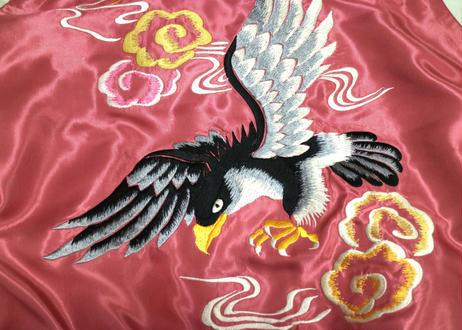 "TAILOR TOYO テーラー東洋 ACETATE SOUVENIR JACKET ""JAPAN MAP & BLACK EAGLE"""