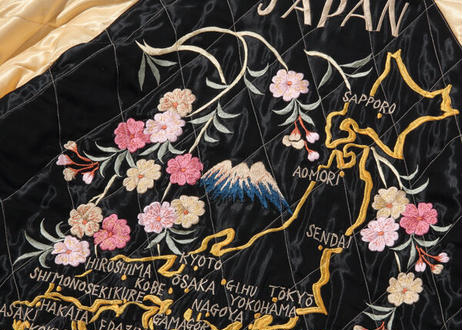 """TAILOR TOYO テーラー東洋 ACETATE QUILTED SOUVENIR JACKET """"DRAGON"""" × """"JAPAN MAP"""""""