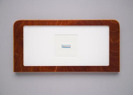 "Framed collage art work by Takaharu Shimizu, 清水貴栄コラージュ作品 ""train"" from toto ""windy"" MV"