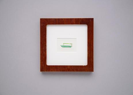 "Framed collage art work by Takaharu Shimizu, 清水貴栄コラージュ作品 ""ship-3"" from toto ""windy"" MV"