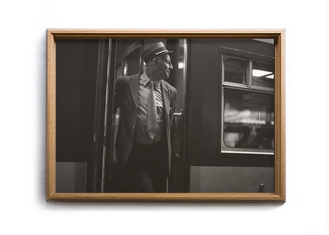 "Photo w/ frame ""Liege Station"" by Seiichi Hishikawa"
