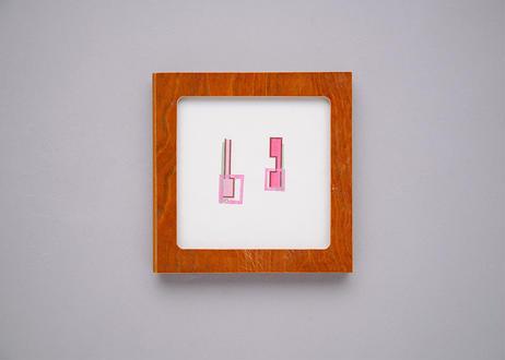 "Framed collage art work by Takaharu Shimizu, 清水貴栄コラージュ作品 ""い"""