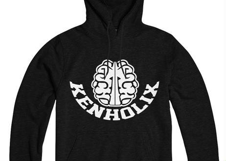 KENHOLIX  Brain Logo Hoodie -Black-