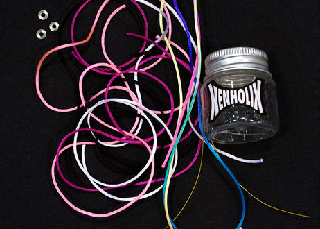 The String Bottle -Flamingo- 5 60cm Silky Strings & 3 Metal Bearings