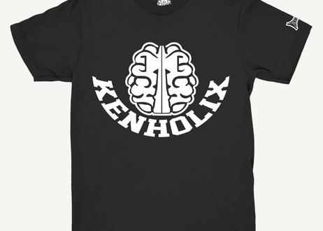 KENHOLIX  Brain Logo Tee -Black-
