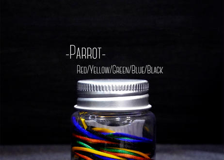 The String Bottle -Parrot- 5 60cm Silky Strings & 3 Metal Bearings