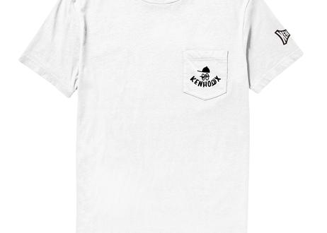 KENHOLIX WHT Label Logo Pocket Tee -White-