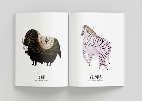 アルファベットA〜Z ハードカバーブック A5サイズ [ヤクとクジラのポストカード付き]