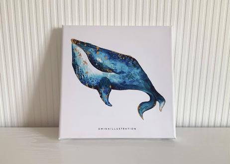 クジラのキャンバスアート