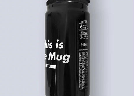 This is the Mug BLACK/ Thermo & GO OUT サーモマグ 黒