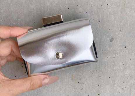 enrich everyday × com-ono Everyday TINY Wallet/SILVER × WHITE(シルバー)