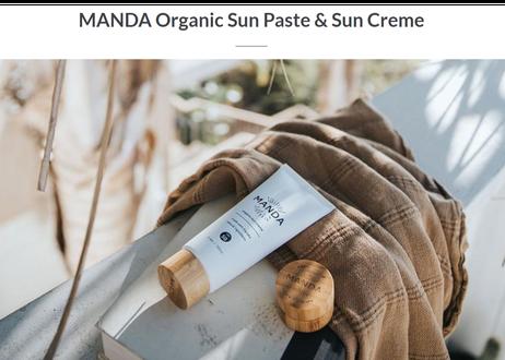 94g(100ml)】MANDA オーガニック 日焼け止めクリーム(SPF 50)/Organic Sun Creme(SPF 50)