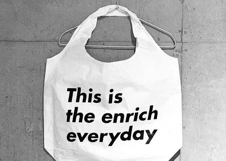 This is the Bag × enricheveryday  Tyvek eco Bag/タイベック エコバック