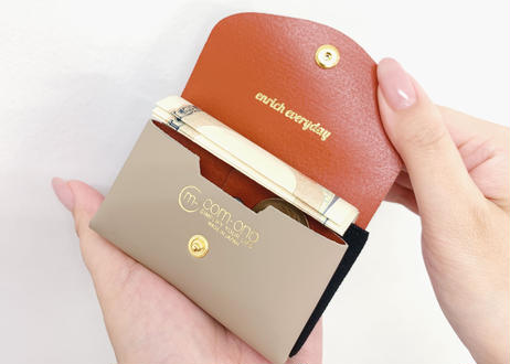 enrich everyday × com-ono Everyday TINY Wallet/NAVY × BLUE × GOLD(ネイビー × ブルー × ゴールドパーツ)