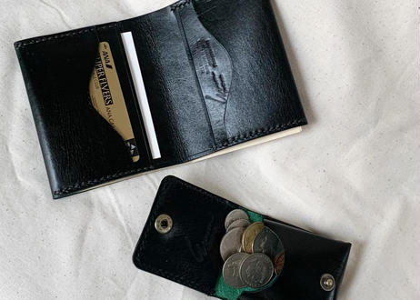 "Semi-custom made item ""card case with paper money pocket""  #Rugato leather"