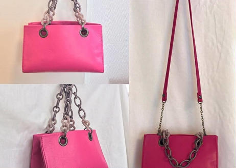 mini handbag x shoulderbag with Italian beads