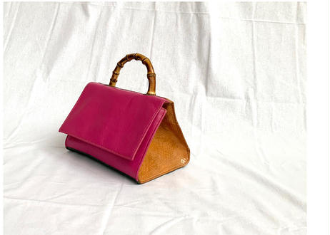 Handbag with bamboo