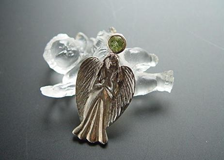 am-002 ペリドットの大天使アリエルのシルバー925クロス