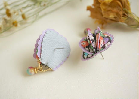 FABRIC BALLOON mini  pierce (semi circular)