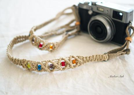 カメラストラップ「マライヒ」  シーグラス
