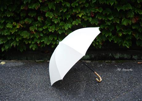 シンプルなコットンの手作り日傘