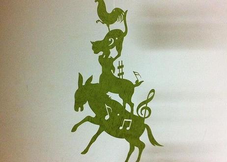 モビール「ブレーメン楽団」