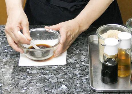 のんの式「お悩み解消!一生役立つ家庭料理レッスン」 #5「黄金比率のドレッシングと甘酢の作り方・応用方法」