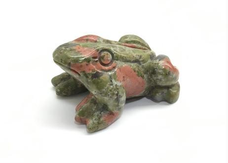 ユナカイト(蛙)動物彫刻