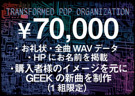 《70,000円コース》【購入者様のイメージを元にGEEKの新曲を制作】(1組限定)ーTransformed Pop Organization【自由価格】ー