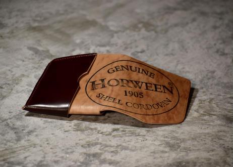 Horween shell cordvan コンパクトウォレット (1点物)
