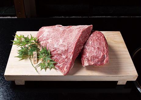 【厚ステーキ】極上雌牛霜降りモモ 120g