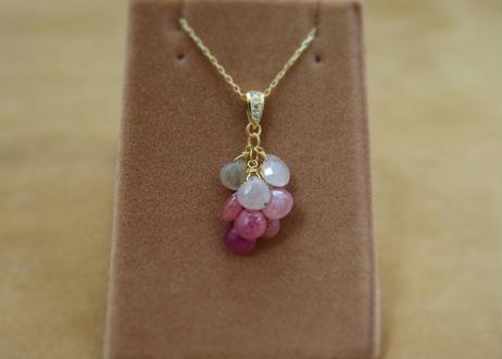 African Sapphire Prisum Pendant Top(+Diamond)