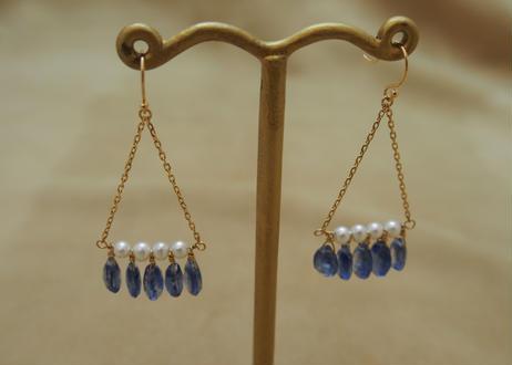Kyanite Chandelier Earrings