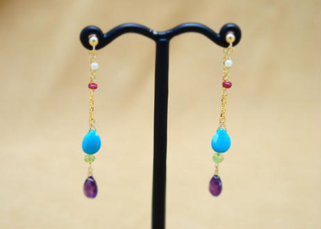 ColorStone Design Earrings